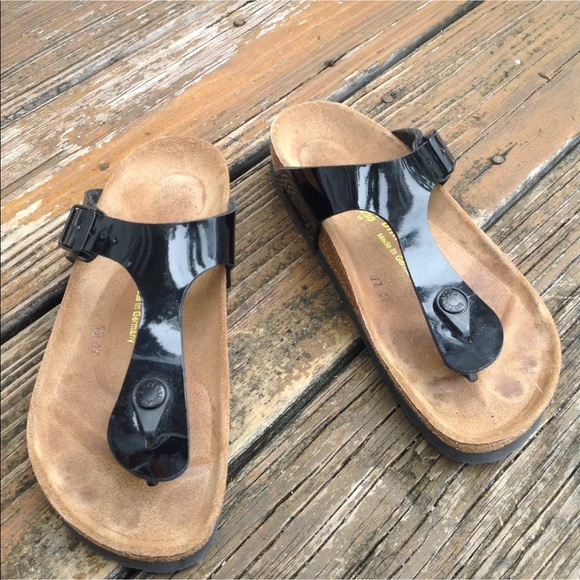 Birkenstock Patent Leather Gizeh Sandals EU 36 5